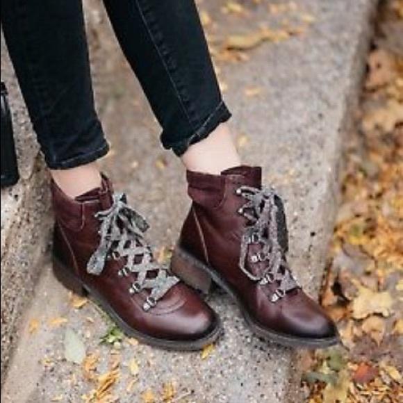 de95020a2b9 NEW! Sam Edelman Dark Red Darrah Lace Up Boots